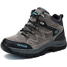 Herren Damen Wanderschuhe Trekking Wandern Stiefel Wanderstiefel Wasserdicht Sports Outdoor Fell Gefüttert Wildleder Winter Warm Schuhe Grün 44 ZqmlGYp