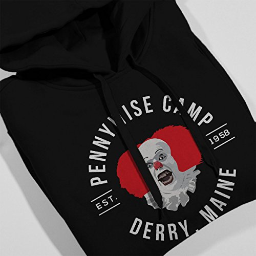 Pennywise Camp Derry Maine IT Women's Hooded Sweatshirt Black