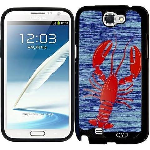 Custodia in silicone per Samsung Galaxy Note 2 (GT-N7100) - Aragosta by (Lobster Personalizzato)