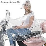 Vêtement de pluie moto Transparent de pluie poncho pluie Veste Manteau de pluie...