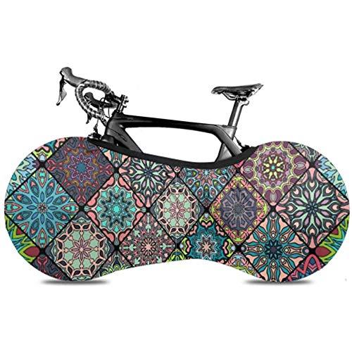 Hecho de material de poliéster de grado superior, esta cubierta de rueda de bicicleta es lo suficientemente rica como para estirarse y plegarse, por lo que puede empacarla fácilmente para ahorrar espacio y llevarla con usted. La cubierta duradera de ...