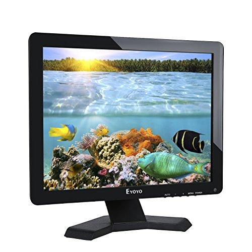 Eyoyo 17 Zoll Breitschirmer LCD Monitor 1280 x 1024 Auflösung 4:3 FHD 1080P HD Video Audio Display Bildschirm HDMI BNC VGA AV USB In/OutG1 Kopfhörer (17'' 1280 x 1024)