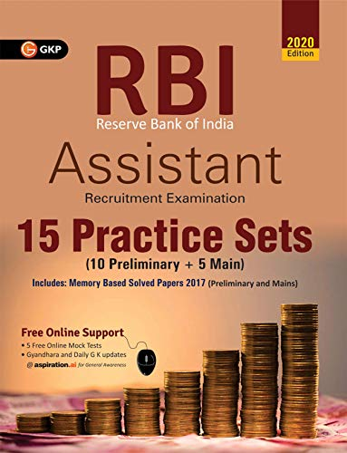 RBI (Reserve Bank of India) 2020: Assistant - 15 Practice Sets