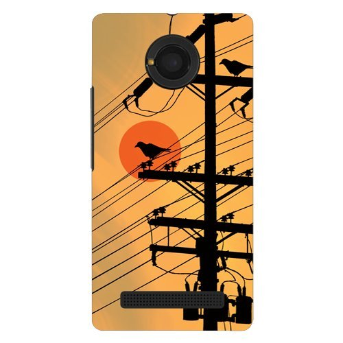 Kaira Brand Designer Hard Back Case Cover for Micromax YU Yunique 4G (Crow Pole)