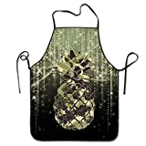 Funny delantal delantal de cocina de chef babero camuflaje piña restaurante Durable