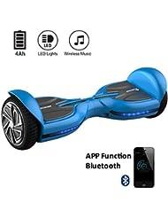 "EVERCROSS Diablo Patinete Eléctrico Scooter Hoverboard talla 6.5"" Bluetooth (Azul)"