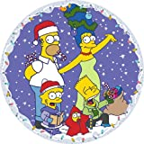 Susan Prescot Games The Simpsons CC105 Family Christmas  Circular Jigsaw 500 pcs