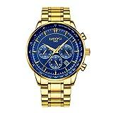 Relojes del Reloj de los Hombres Reloj cronografo Resistente al Agua Fecha Mens Creativa de los Hombres