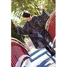 Kimono para mujer corto chaqueta negro abierto boho cardigan de mujer de vestir estampado fiesta de