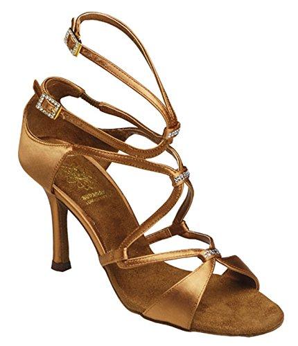 Supadance-chaussures de danse femme-talon 1062 en satin Marron - Tan dunkel