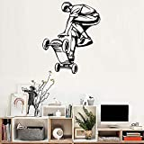 lyclff Arte Skateboard Ride Ragazzi Wall Stickers Murales Grande Hall Wallpaper Camera Adolescente Stickers murali Ornamento Rimovibile Poster Hot 42 * 53 cm