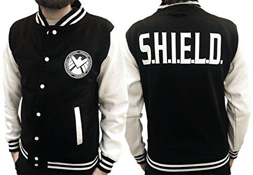Agents Of S.H.I.E.L.D.-Design ispirato-Varsity Jacket Black & White Medium