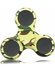 KAIHONG Fidget Hand Finger Toy Spinner Jouet Ultra Durable Roulement Haute Vitesse 3-5 Mins Spinners pour Adultes, le TDAH, l'anxiété et les Enfants Adultes Autistes (camouflage)