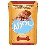 Adoc Naturale Tonno e Carote per cani adulti, confezione da 20 pezzi