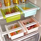 #2: Floraware Plastic Refrigerator Storage Rack Set, Set of 4, Multicolour