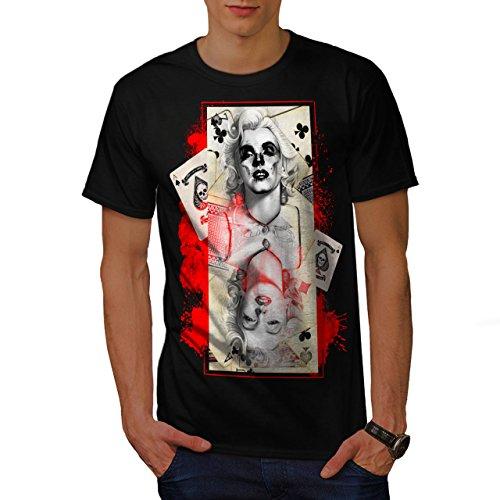 Marilyn Poker Berühmtheit Tot Berühmtheit Herren L T-shirt | Wellcoda (Von Shirt Authentisch Teppich)