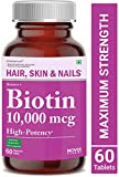 Carbamide Forte High Potency Biotin 10000mcg Maximum Strength for Hair Growth - 60