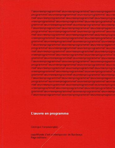 L'oeuvre en programme : Catalogue franais-anglais
