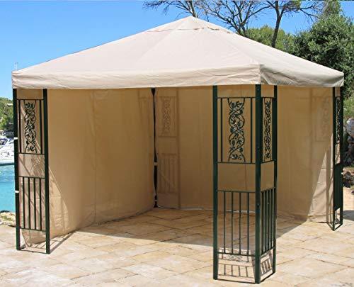 QUICK STAR 2 Seitenteile 294x201cm für Pavillon Roma 3x3m Seitenwand Sand