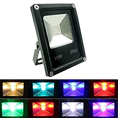 GLW Remote Control 220V RGB LED Flood Lights, Colour Changing LED Security Light, 16 Colours & 4 Modes, Waterproof LED Floodlight, Decorative lamp,Wall Washer Light