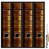 4 Ordnerrücken Motiv-Aufkleber BUCHCOVER 22 - Format 65 x 300 mm - passend für 4 breite Standard Din-A4-Ordner mit 7,5 oder 8,0 cm Rückenbreite
