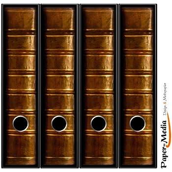 4 Ordnerrücken Motiv-Aufkleber BUCHCOVER 22 - Format 65 x