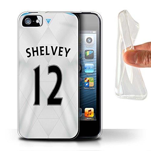 Offiziell Newcastle United FC Hülle / Gel TPU Case für Apple iPhone SE / Pack 29pcs Muster / NUFC Trikot Away 15/16 Kollektion Shelvey