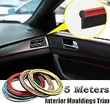 5M Car Decorative filler strip KIA K2 K3 K5 Sorento SportageR Rio Soul For ford focus cruze kia rio skoda octavia mazda opel bmw Ford Universal (Gold)
