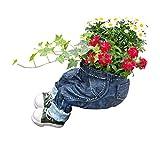 Fachhandel Plus Pflanztopf Kantenhocker zum Bepflanzen lustige Deko Hose Gartendeko Blumentopf Dekofigur Blumenkübel