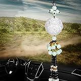 WMM Auto Doppelseitige Schlinge weißer Jadeanhänger, Autoanhänger, 貔貅 保 平安 符 车 挂,A,Einheitsgröße