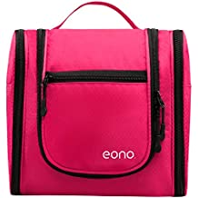 Eono Essentials Large Men & Women Toiletry Bag for Makeup, Cosmetic, Shaving, Travel Accessories, Personal Items - Hanging Toiletries Kit Makeup Organize