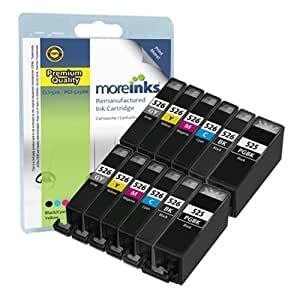 12 Cartouches d'encre Compatibles pour Imprimante Canon Pixma MX885 - Cyan / Magenta / Jaune / Noir / Grande Noir / Gris- Avec Puce