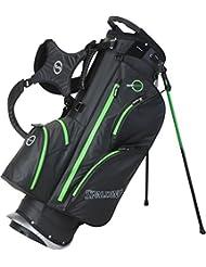 Spalding Sac de golf trépied imperméable-Noir/Vert - 23 cm