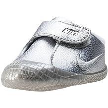 Nike 845126-001, Zapatos de Primeros Pasos Bebé-Niño, Plateado (Metallic Silver / Metallic Silver / White), 17 EU