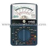CODELL - Multímetro analógico AC/DC con cables
