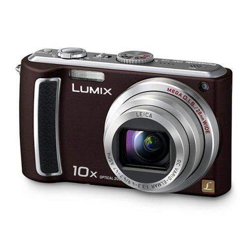 Panasonic DMC-TZ5EG-TA Digitalkamera (9 Megapixel, 10-fach opt. Zoom, 7,6 cm (3 Zoll) Display, Bildstabilisator) chocolate (Tz5 Dmc Panasonic)