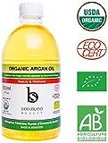500 ml Olio di Argan BIO 100% Puro con Certificato Ecocert Prima Pressione a Freddo per Pelle e Capelli - Originale dal Marocco