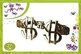 Occhiali giganti dollaro occhialoni color oro $