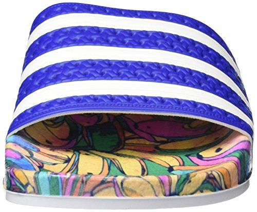 adidas Originals  Adilette Slipper, Chaussures de Plage & Piscine femme Bleu (Lab Blue/Ftwr White/Lab Blue)