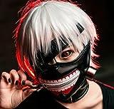Sunkee Tokyo Ghoul Kaneki Ken Cosplay Masken-Halloween-Party-Cooler Mask Prop Zipper