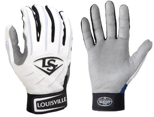 Je 1Louisville Slugger bgs714Erwachsene xx-small weiß/weiß Serie 7Batting Handschuhe
