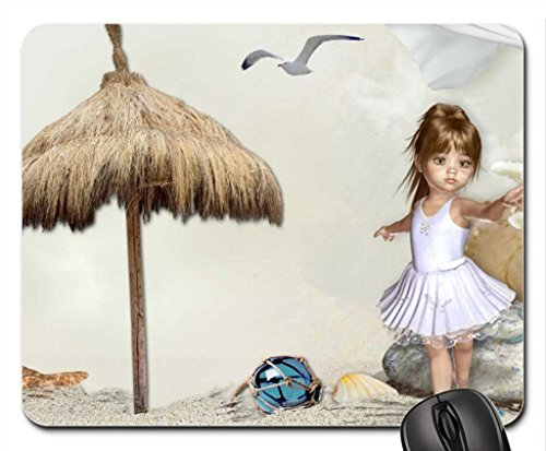 Ballerina at the Seashore Mouse Pad, Mousepad (Beaches Mouse Pad)