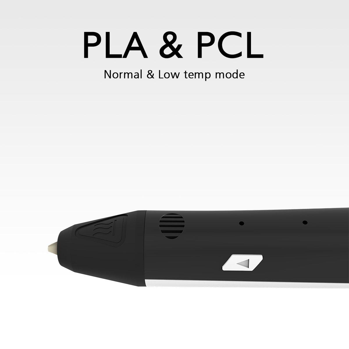 Pathonor-3D-Stylo-dimpression-PCLPLA-Non-Toxique-3D-Pen-pour-Enfant-et-Adulte-avec-2-Paquets-de-3D-Filament-et-2-Manchon-de-Doigts-Le-Cadeau-Idal-pour-Petits-Enfants