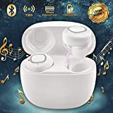 iFuntec Wireless Earbuds, Bluetooth Headphones with Mic Compact In-Ear Headphones Mini Cordless Sports