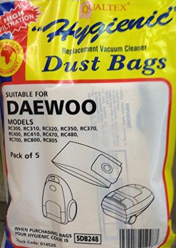 Jegs Daewoo RC300Staubsaugerbeutel, 5er-Pack