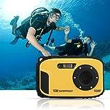 Wasserdichte Kamera Stoga CGT002 2,7 Zoll LCD Digitalkamera 16MP Video Camcorder wasserdicht Kamera Zoom Video Recorder + 8 X Zoom Cam-gelb - 7