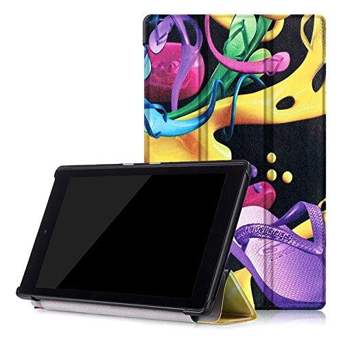 Microsuede Schuhe (Skytar neue Fire HD 8 Zoll Schutzhülle,Cover für Fire HD 8 2016 Tablet,Smart Folio Case Cover Stand Tasche PU Leder Hülle für neue Fire HD 8 Tablet (6. Generation - 2016 Modell),Bunte Schuhe)
