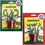 2 x Samen für Fleischfressende Pflanze Pflanzgefäß, Pflanzerde Fliegenfänger Insektenschutz Samen Topf Pflanzerde