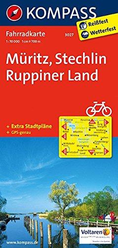 Carta cicloturistica n. 3027. Muritz, Stechlin, Ruppiner Land 1:70.000. Adatto a GPS. Digital map. DVD-ROM: Fietskaart 1:70 000