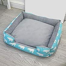 YSDTLX Cama para Perro Perrera Extraíble Perrera Gato Mascota Nido Grande Perrera Cuatro Estaciones, Azul